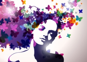 bigstock-Woman-with-butterfly--25480940