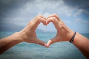 Hands, hearts sky