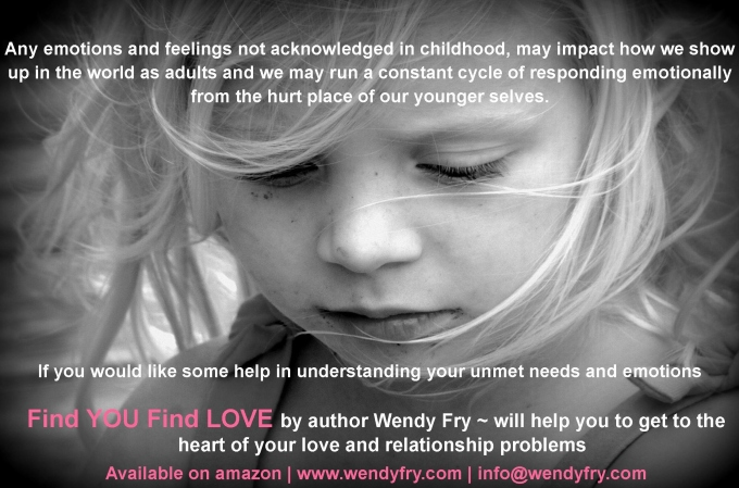 Any emotions and feelings not acknowledged in childhood